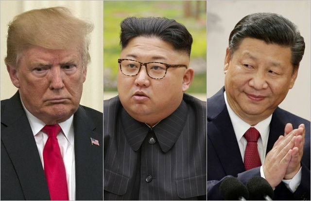 (왼쪽부터) 도널드 트럼프 미국 대통령, 김정은 북한 국무위원장, 시진핑 중국 국가주석 ⓒCNN, 조선중앙통신