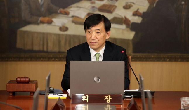 이주열 한국은행 총재가 17일 오전 서울 중구 한국은행에서 열린 2020년 첫 금융통화위원회를 주재하고 있다. ⓒ데일리안 류영주 기자