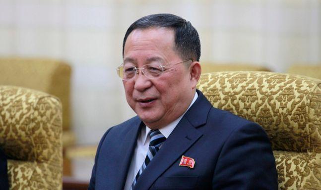 리 외무상이 지난 2월 13일 평양에서 팜 빈 민 베트남 부총리와 만나는 모습ⓒ뉴시