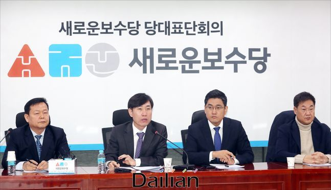 새로운보수당 당대표단 회의 모습. ⓒ데일리안 박항구 기자