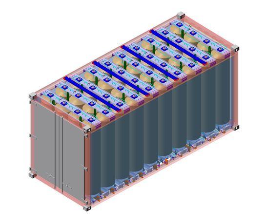 일진복합소재가 개발중인 대용량 수소이송 용기 '튜브스키드'.ⓒ일진그룹