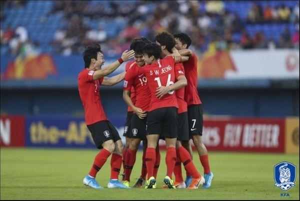 U-23 챔피언십에서 4전 전승으로 4강에 진출한 한국. ⓒ 대한축구협회