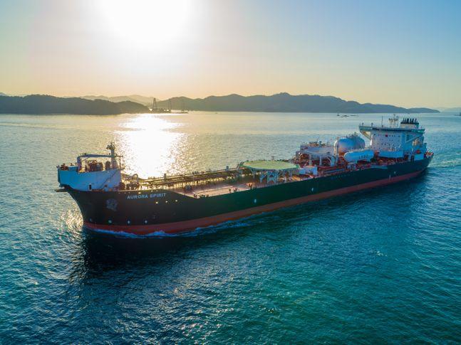 삼성중공업 LNG 이중연료 추진 셔틀탱커 ⓒ삼성중공업