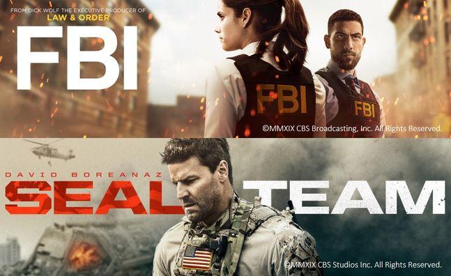 웨이브가 공개하는 미국드라마 CBS 'FBI'와 '씰팀(SEAL TEAM)' 포스터.ⓒ웨이브