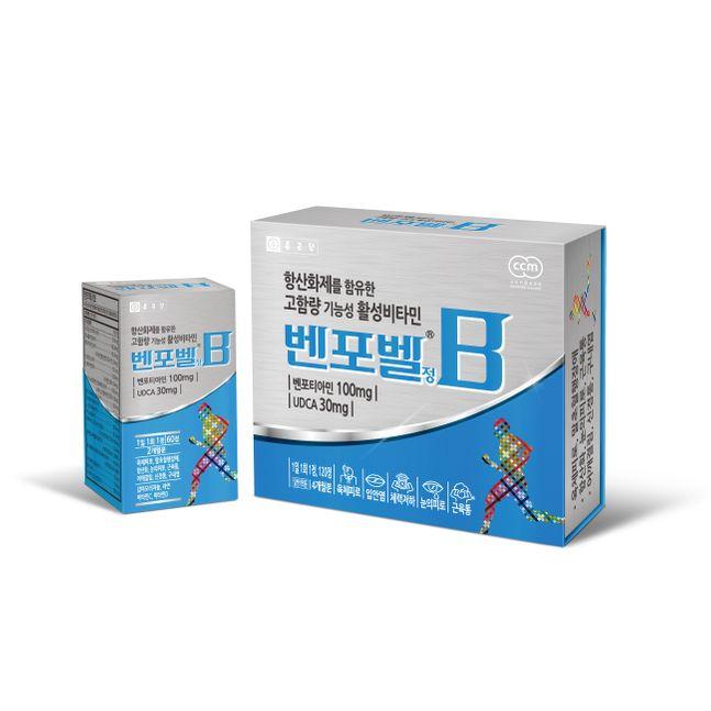 종근당의 '벤포벨'은 활성비타민인 벤포티아민을 포함한 비타민 B군 9종과 우르소데옥시콜산(UDCA), 코엔자임Q10, 비타민 C·D·E, 아연 등을 복합적으로 함유해 하루 한 알 섭취 시 명절 증후군 해소에 도움을 줄 수 있다. ⓒ종근당