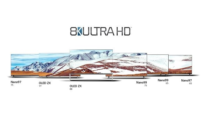 LG전자 8K 올레드 TV 라인업.ⒸLG전자