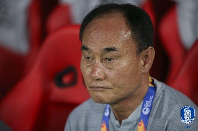 9회 연속 올림픽 본선행을 이끈 김학범 감독. ⓒ 대한축구협회
