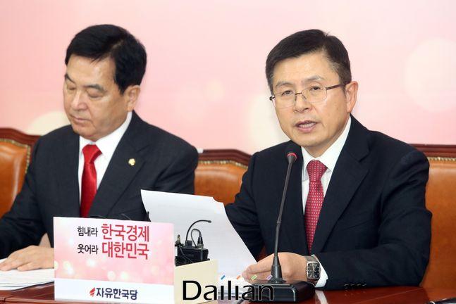 황교안 자유한국당 대표와 심재철 원내대표ⓒ데일리안 박항구 기자