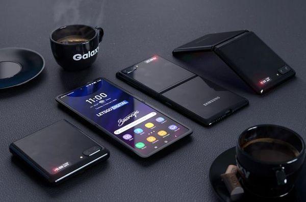 삼성전자 폴더블 스마트폰 '갤럭시Z 플립(가칭)' 렌더링 이미지.ⓒ레츠고디지털(https://nl.letsgodigital.org/smartphones/samsung-galaxy-z-flip-clamshell-telefoon/)