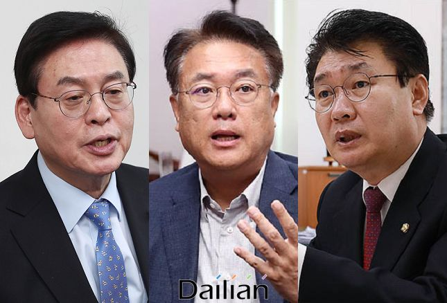 충북 정우택·충남 정진석·대전 정용기 자유한국당 의원(사진 왼쪽부터). ⓒ데일리안