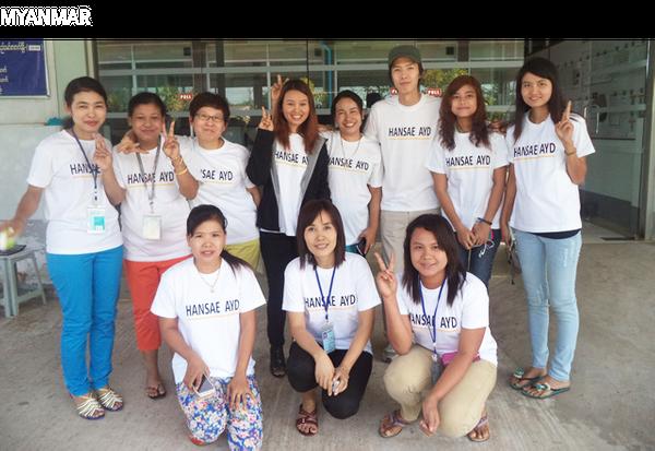 한세실업 미얀마 법인의 여성 직원들.ⓒ한세실업