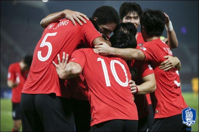 한국 축구 역사상 8번째 우승에 도전하는 김학범호. ⓒ 대한축구협회
