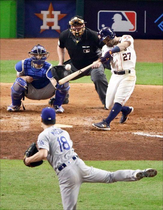 2017시즌 월드시리즈에서 마에다는 알투베에 동점 3점홈런을 얻어맞았다. ⓒ 뉴시스
