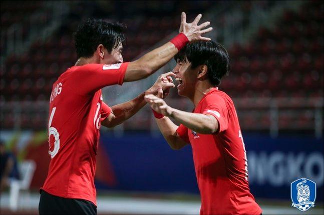 2020 도쿄올림픽 출전권과 대회 우승에 성공한 U-23 축구대표팀. ⓒ 대한축구협회