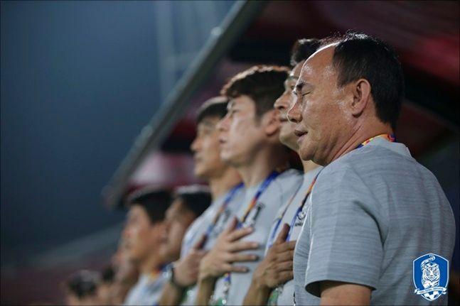 김학범 감독이 이끄는 대한민국 U-23 축구대표팀이 사우디를 꺾고 최초 우승을 차지했다. ⓒ 대한축구협회