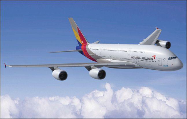 아시아나항공 A380 항공기.ⓒ아시아나항공