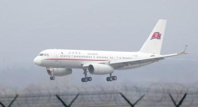 러시아 블라디보스토크 공항에 착륙하는 북한 고려항공 여객기.ⓒ연합뉴스
