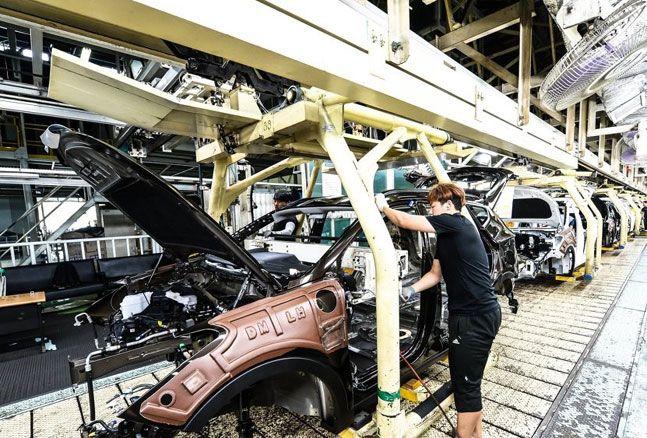 현대자동차 울산공장 생산라인 전경. ⓒ현대자동차