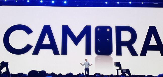 11일(현지시간) 오전 11시 미국 샌프란시스코 팰리스 오브 파인 아트에서 열린 '갤럭시 언팩 2020'에서 '갤럭시S20'이 소개되는 모습.ⓒ데일리안 김은경 기자