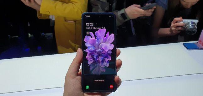 삼성전자의 폴더블 스마트폰 '갤럭시Z 플립'.ⓒ데일리안 김은경 기자