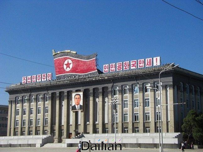 북한 평양 중심부에 위치한