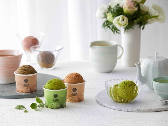 제주의 자연에 진심을 담은 프리미엄 티(Tea) 브랜드 오설록이 컵 아이스크림 3종을 '카카오톡 선물하기'에 출시했다. ⓒ아모레퍼시픽