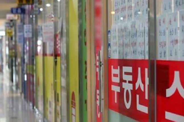 서울의 한 공인중개업소 밀집지역 모습.ⓒ연합뉴스