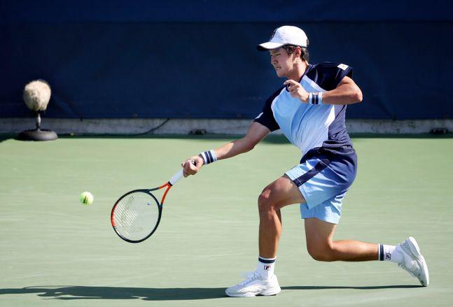 권순우가 남자프로테니스(ATP) 투어 뉴욕오픈 단식 8강에서 아쉽게 탈락했다. ⓒ 뉴시스