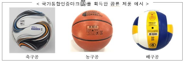 앞으로 초등학교에 사용되는 스포츠용품은 국가통합인증마크(KC)를 획득해야 한다. ⓒ국가기술표준원
