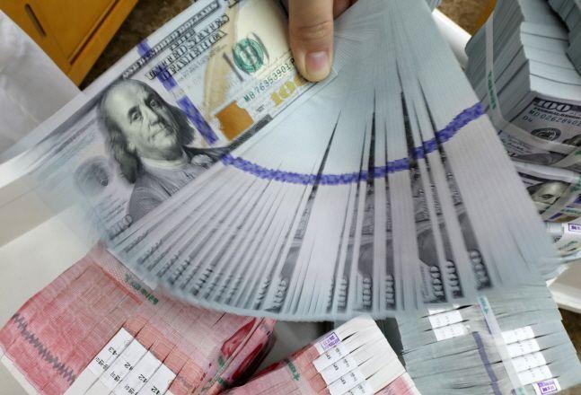 거주자외화예금이 올해 1월 40억달러 넘게 줄어든 것으로 나타났다.ⓒ뉴시스