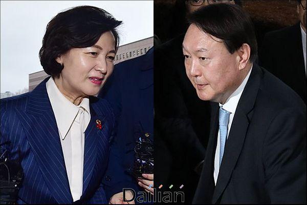 추미애 법무장관과 윤석열 검찰총장(자료사진). ⓒ데일리안 홍금표 기자