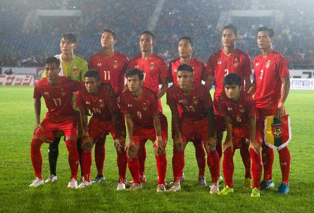 2022 카타르 월드컵 아시아지역 2차 예선에서 승부 조작을 펼쳤다는 의혹을 받고 있는 미얀마. ⓒ 뉴시스