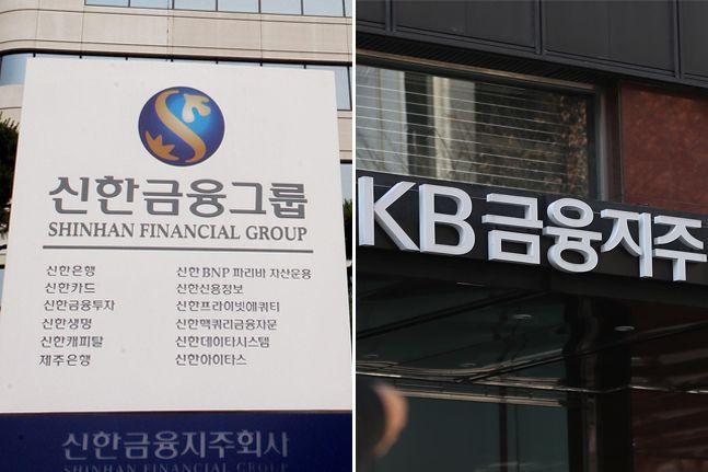 신한금융그룹과 KB금융그룹의 유가증권 투자를 둘러싼 헷징 역량에 금융권의 시선이 쏠리고 있다.ⓒ데일리안