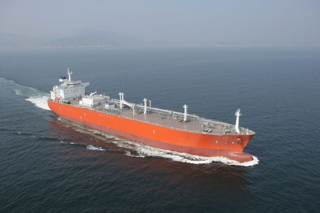 대우조선해양이 건조한 초대형LPG운반선 ⓒ대우조선해양