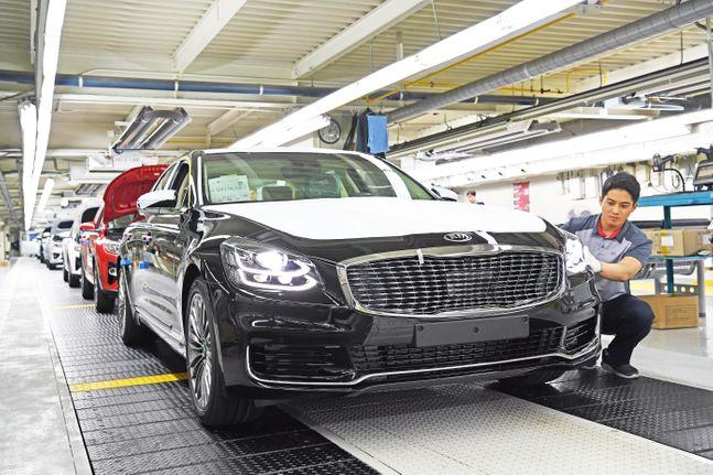 기아자동차 소하리 공장에서 K9이 생산되고 있다. ⓒ기아자동차