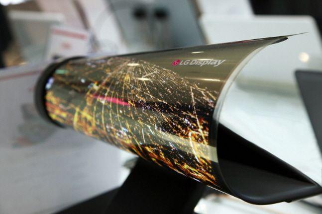 LG디스플레이의 롤러블 유기발광다이오드(OLED).ⓒLG디스플레이