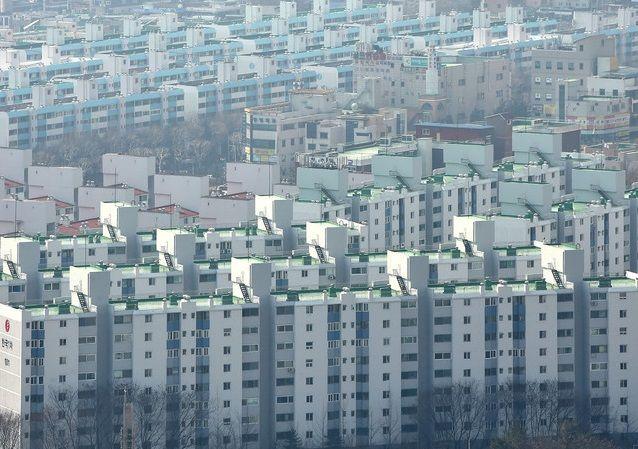 경기 수원 시내의 한 아파트 단지 모습.ⓒ뉴시스