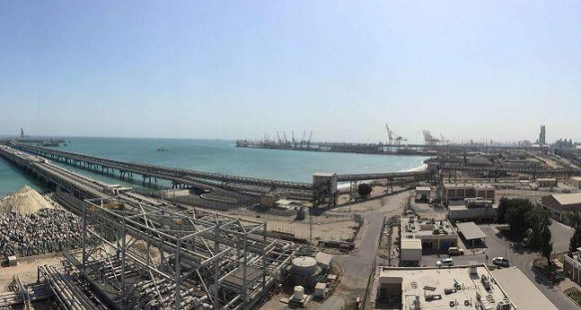 대림산업이 준공한 쿠웨이트 미나 알 아흐마디 석유화학 단지내 황 재처리 공장 전경.ⓒ대림산업