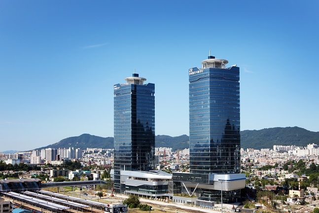 한국철도시설공단 사옥 전경. ⓒ한국철도시설공단