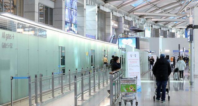 코로나19에 한산한 인천국제공항 출국장 모습.ⓒ뉴시스