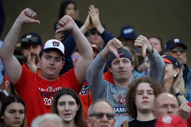 휴스턴 선수들은 시범 경기 첫날 팬들의 야유에 시달려야 했다. ⓒ 뉴시스