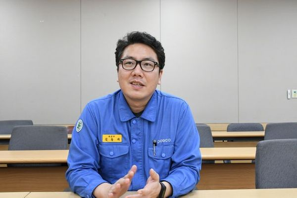 김용태 포항제철소 제강부 과장이 데일리안과의 인터뷰에서 발언하고 있다.ⓒ포스코