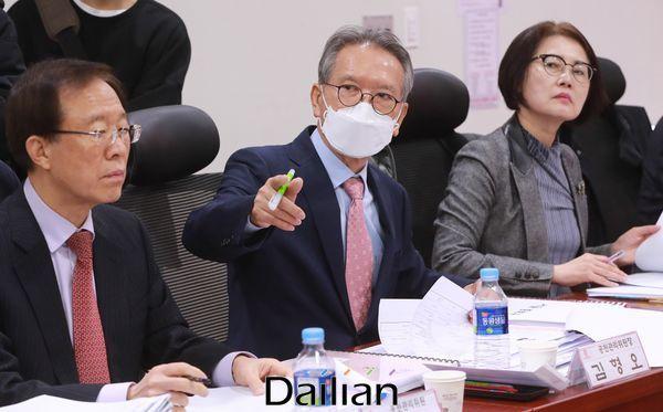 공천 면접 진행하는 미래통합당 김형오 공천관리위원장ⓒ데일리안 박항구 기자