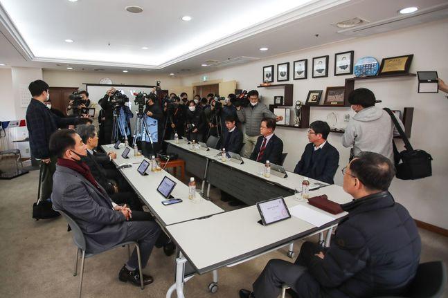 24일 열린 긴급 이사회. ⓒ 한국프로축구연맹