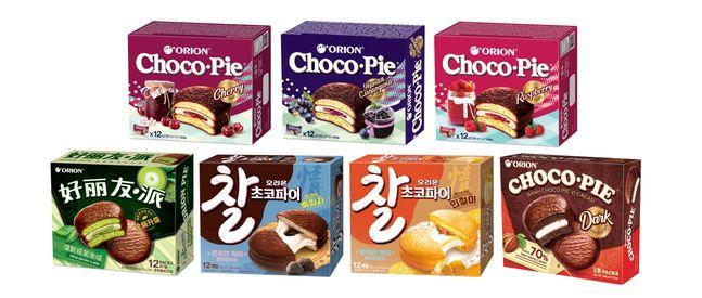 오리온 '초코파이情', 한·중·베·러 차별화 제품.ⓒ오리온