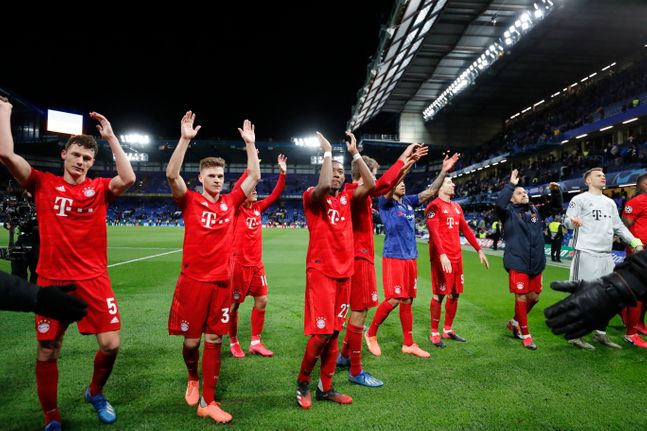 잉글랜드 원정서 3-0 대승을 거둔 바이에른 뮌헨. ⓒ 뉴시스