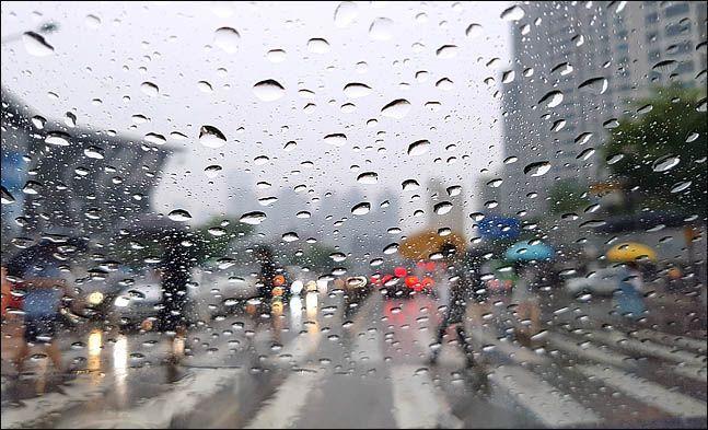 우산을 쓴 시민들이 출근길 발걸음을 재촉하고 있다. ⓒ데일리안 박항구 기자