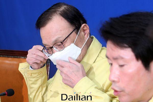 이해찬 민주당 대표와 이인영 원내대표 ⓒ데일리안 박항구 기자
