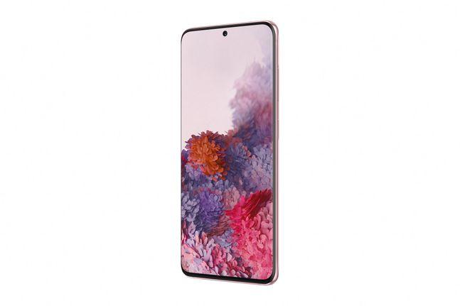 삼성전자 스마트폰 갤럭시S20의 LG유플러스 전용색상 '클라우드' 핑크' 모델.ⓒLG유플러스