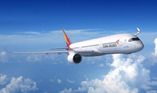 아시아나항공 A350-900 항공기.ⓒ아시아나항공